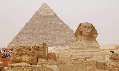 The Sphinx and Pyramid of Khufu